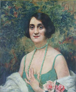 Leopold Pilichowski, 'Woman with Pearl Necklace', 1869 -1934