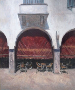 Jean-Daniel Bouvard, 'Cafe des Arcades', 2018
