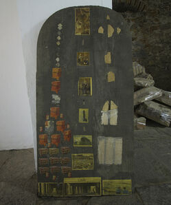 Matheus Rocha Pitta, 'Estela #01 (pilhas) / (batteries)', 2012
