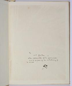 James Abbott McNeill Whistler, 'Eden versus Whistler: The Baronet & the Butterfly with dedication to Isabella Stewart Gardner', 1899