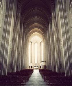 Kim Holtermand, 'Grundtvigs Church: The Aisle'