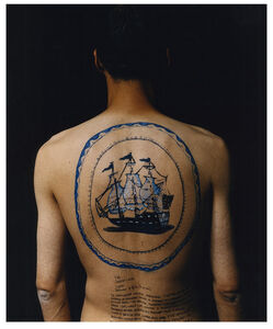 Ni Haifeng, 'Self-Portrait as Part of the Porcelain Export History 1 - Back', 1999-2001