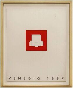 Gerhard Merz, 'Venedig 1997 Minimalist Conceptual Architectural Silkscreen', 1990-1999