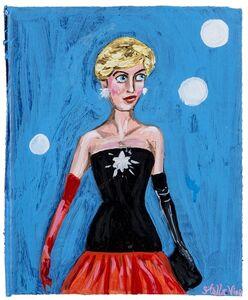 Stella Vine, 'Diana red & black dress', 2009