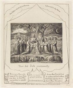 William Blake (1757-1827), 'Job and His Family', 1825