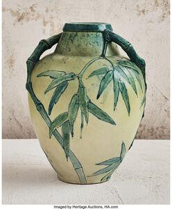 Edmond Lachenal, 'Handled Vase with Bamboo Motif', 1911