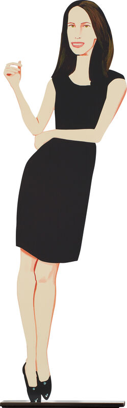 Alex Katz, 'Black Dress 9 (Christy), from Black Dress Series', 2017, Sculpture, Cutout from shaped powder-coated aluminum, printed the same on each side with UV cured archival inks, clear coated, and mounted to 1/4 inch stainless steel base, with accompanying original foam lined cardboard box., Phillips