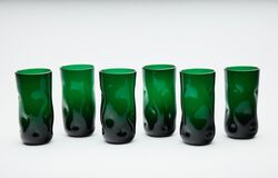 Dale Chihuly 70's Green Glass 6 Original Handblown Contemporary