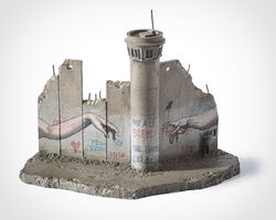 Banksy, 'Walled Off Hotel - Eight Part Souvenir Wall Section With Watch Tower (The Creation Of Adam)'