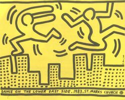 Keith Haring, 'Dance on the Lower East Side ', 1983