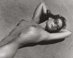 Herb Ritts, 'Carré in Sand II', 1988