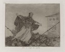 Francisco de Goya, 'Que se rompe la cuerda [May the cord break], plate 77', 1813-1814