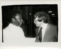 Andy Warhol, 'Andy Warhol, Photograph of Pelé and Richard Weisman, 1977', 1977