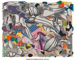 Frank Stella, 'Ambergris, from Moby Dick', 1993