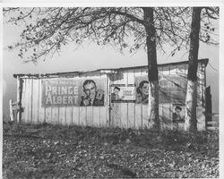 Walker Evans, 'Cigarette Advertisements on Barn Facade, Chilton County, Alabama', 1936