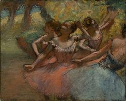 Edgar Degas, 'Four Ballet Dancers on Stage (Quatro Bailarinas em Cena)', about 1885-1890