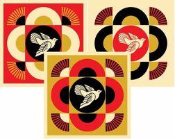 Shepard Fairey, 'Peace Dove Geometric Set of 3 Prints', 2017
