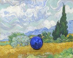 Jeff Koons, 'Gazing Ball (Van Gogh Wheatfield With Cypresses) ', 2018