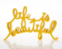 Mr. Brainwash, 'Life is Beautiful (Yellow)', 2015
