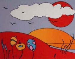 Peter Max, 'Sun & Moon Landscape', 1978