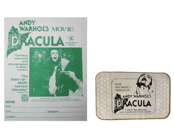 "Andy Warhol, '2 PIECE LOT- ""Andy Warhol's DRACULA"", 1974, BANDAGE Film Promotion Giveaway, & Handbill RARE', 1974"
