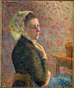 Camille Pissarro, 'Femme au Fichu Vert (Woman with Green Scarf)', 1893