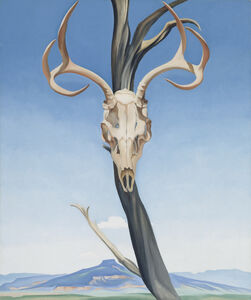 Georgia O'Keeffe, 'Deer's Skull with Pedernal', 1936