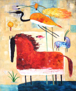 Valentina DuBasky, 'Red Horse and Crane', 2016