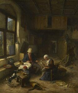Adriaen van Ostade, 'The Interior of a Peasant's Cottage ', 1668