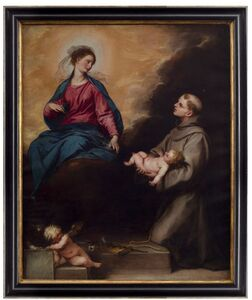 Alonso Cano, 'Presentation of the baby Jesus by Saint Anthony to the Virgin Mary   ', 1601/1667