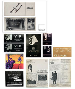 Andy Warhol, 'Andy Warhol- SIGNED, Automat Restaurant Benefit Ticket with 8-PIECE, NYC Club Ephemera Collection- STUDIO 54 VIP, Max's Kansas City, Club 57, Palladium, Tunnel.', 1980's