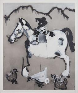 Kim Dingle, 'Untitled (appaloosa w/ chicken)', 2017