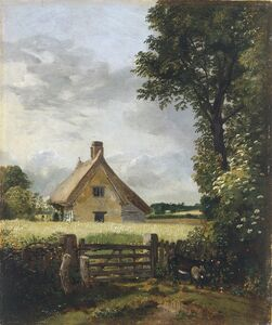 John Constable, 'A Cottage in a Cornfield', 1817