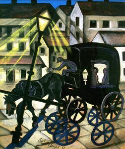 Hugó Scheiber, 'Carriage at Night', ca. 1930