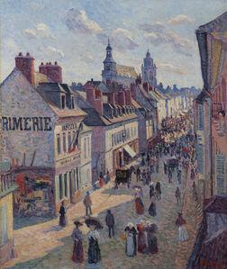 Maximilien Luce, 'Jour de marché à Gisors, rue Cappeville', 1897
