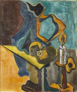 Alice Halicka, 'Nature morte avec pichet, pomme, bougie (Still life with pitcher, apple, candle)', c.1912