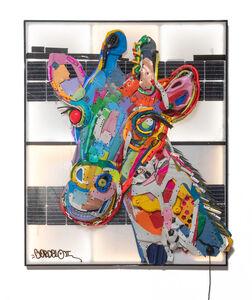 Bordalo II, 'Lighted Plastic Giraffe', 2020