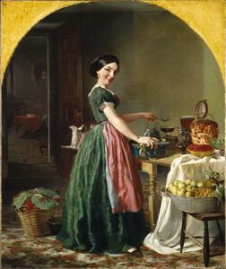 Lilly Martin Spencer, 'Kiss Me and You'll Kiss the 'Lasses', 1856