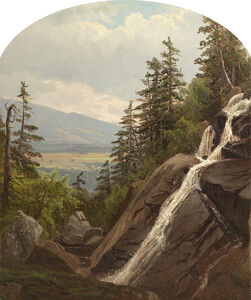 Alfred Thompson Bricher, 'Mountain Waterfall'