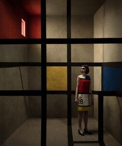 Eugenio Recuenco, '28 Octubre (after Piet Mondrian)', 2019