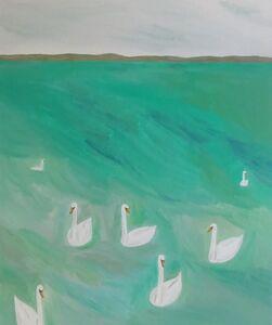 Yuko Murata, 'bohemians (on green)', 2014