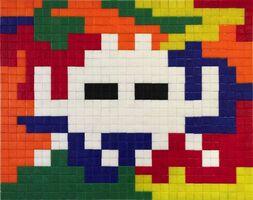 Invader, 'Lost in Rubik Camo Space 1', 2007