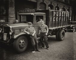 Walker Evans, 'Palumbo Public Ice-Fuel Corp. Truck, New York'