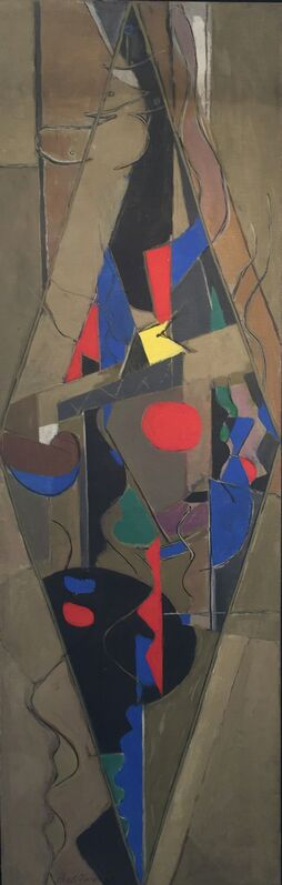 Perle Fine, 'Spinning Figure', 1949, Painting, Oil on canvas, Berry Campbell Gallery