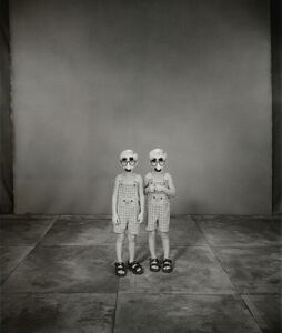 Mary Ellen Mark, 'Jordan and Joseph Basinger, 3 years old, Joseph older by 2 minutes, Twinsburg, Ohio', 2002