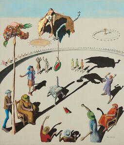 Benny Andrews, 'Circle Study #11', 1972