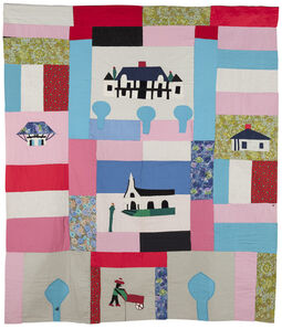 Clementine Hunter, 'Melrose Plantation Quilt', ca. 1960