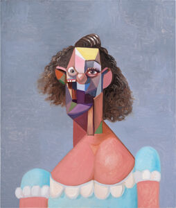 George Condo, 'Young Girl with Blue Dress', 2007