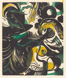Franz Marc, 'Genesis II (Schopfungsgeschichte II)', 1914