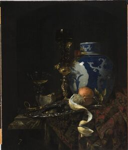 Willem Kalf, 'Still Life with A Chinese Porcelain Jar', 1669